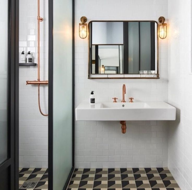 The Davey Lighting Well Glass wall lights created in a bespoke finish for The Hoxton Paris designed by Humbert & Poyet architects #originalbtc #paris #france #lighting #industriallighting #bespoke #design #interiors #interiordesign #commercialdesign #hospitalitydesign #hoteldesign #bathrooms #décor #decoration