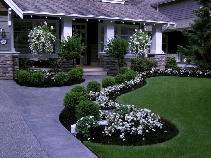 Gorgeous Front Yard Garden Landscaping Ideas (53) #frontgardendesignideas