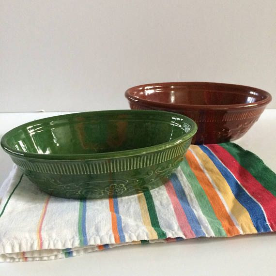 TST oven serve ware ceramic bowls Taylor Smith Taylor small