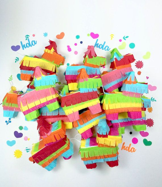 Its not a fiesta without a piñata! These cute little piñatas are great for adding a festive touch to your Mexican themed wedding, birthday party, cinco
