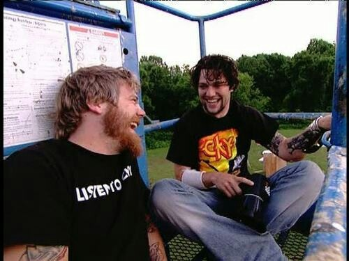 Bam Margera With Ryan Dunn. When they realized all they had to do to get back down was to turn the key lol #VivaLaBam
