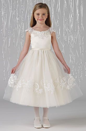 MagicMomentsCollections.com | Joan Calabrese 212370 Flower Girl / Communion Dress $238
