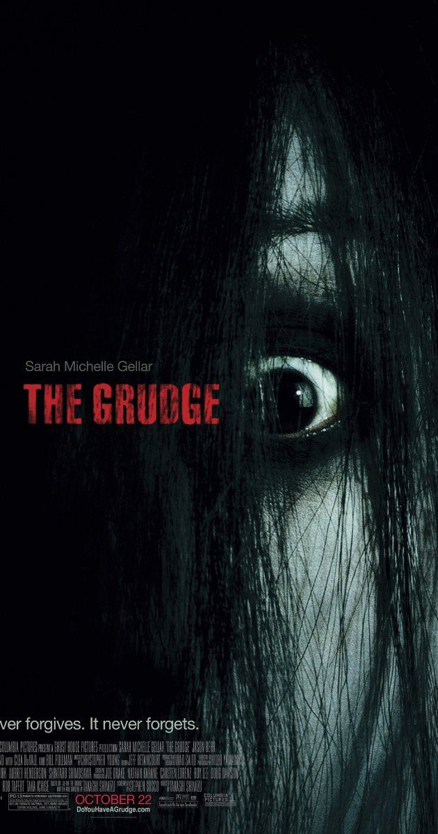 """""""The Grudge"""" - An American nurse living and working in Tokyo is exposed to a mysterious supernatural curse, one that locks a person in a powerful rage before claiming their life and spreading to another victim. (2004)"""