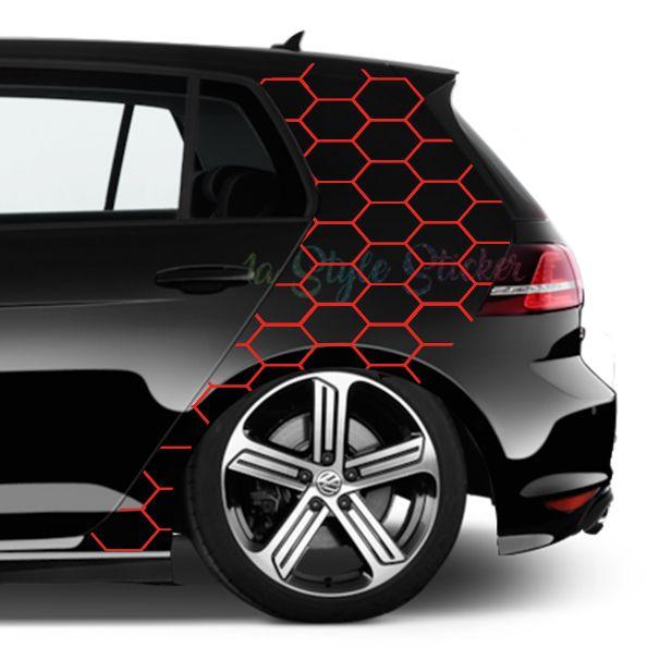 C Saule Aufkleber Gti Waben Muster Netz Aufkleber Auto Aufkleber Design Autos