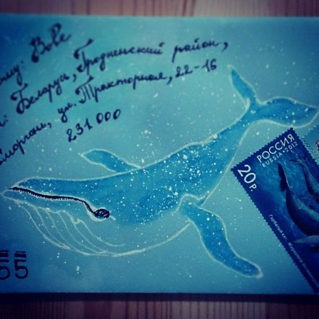 http://instagram.com/significant_letter  #snail mail #envelope #mailart  #whale