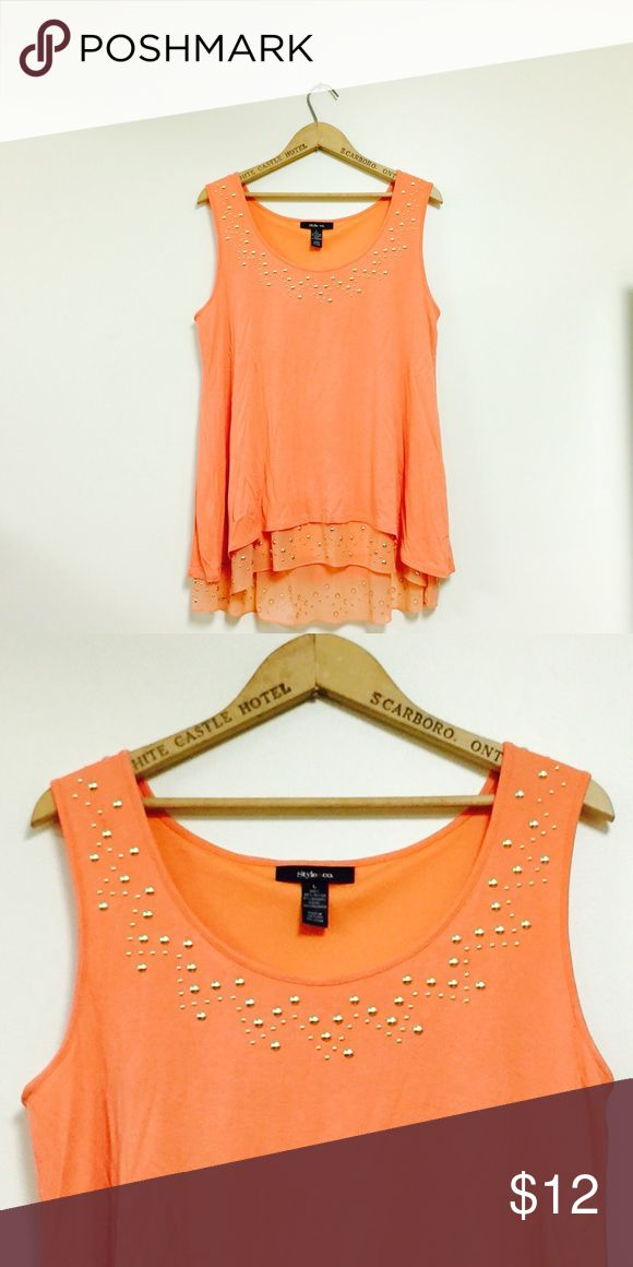 ORANGE TOP This top is in great condition and barely worn. There are no signs of wear.  Great for casual looks. ❗️BUNDLE FOR DISCOUNTS❗️ Style & Co Tops