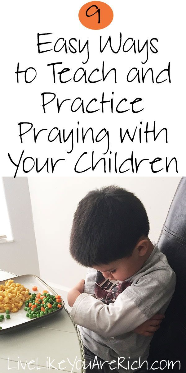 9  Easy Ways to Teach and Practice Praying with Your Children. #PrinceofPeace