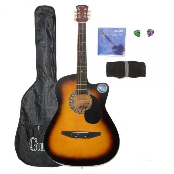 A, Cutaway Acoustic Guitar Sun Color Bag Strap Pick CSP-38C 38 Basswood Guitar P: Bid: 73,37€ (£65.37) Buynow Price 73,37€ (£65.37)…