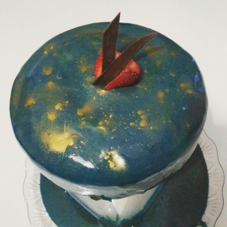 Glazing cake