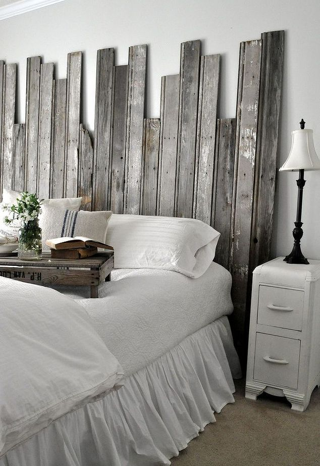 Reclaimed Wooden Headboard 32 best DIY Headboard