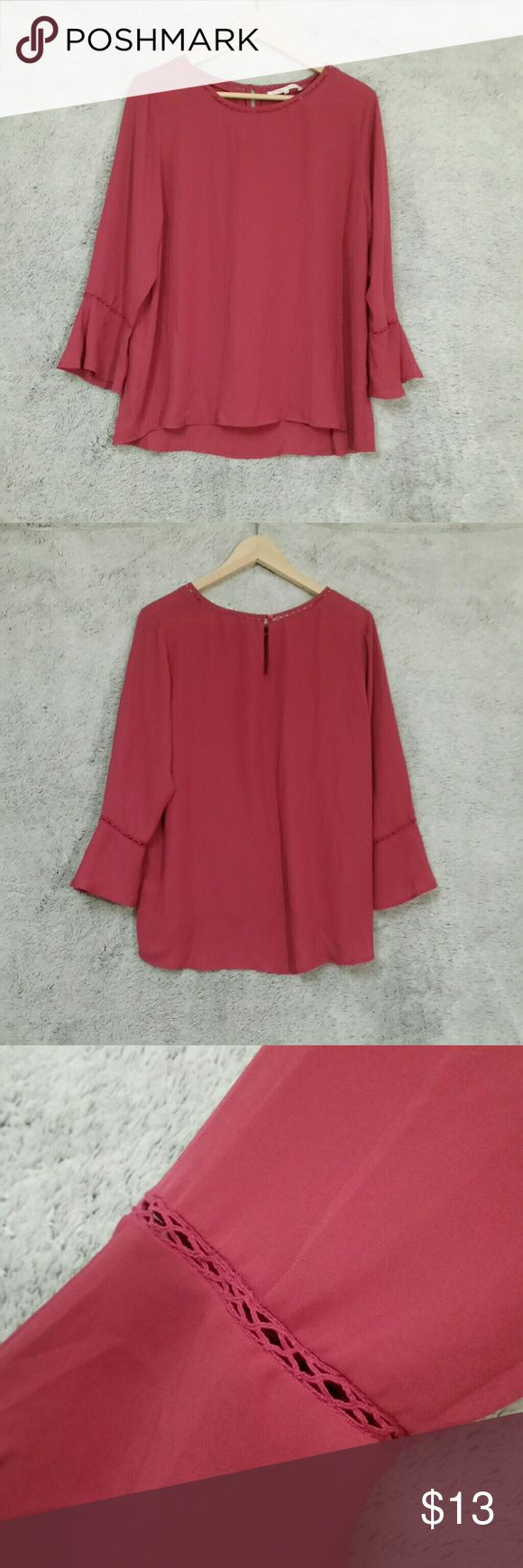 Hot Pink Blouse Loose hot pink blouse. New without tags, never worn. Violet & Claire Tops Blouses