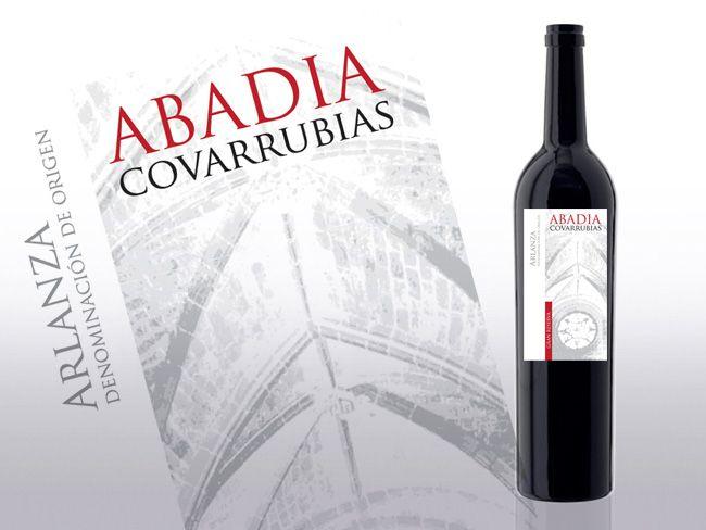 Etiqueta vino Abadía Covarrubias - Etiquetas - Packaging - Diseño gráfico - Diseño y creación - diseño web Burgos - menosdiez.com