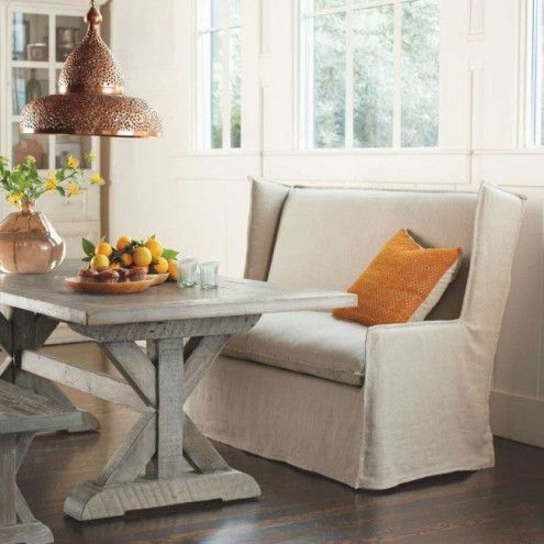 1000 ideas about settee dining on pinterest banquette bench modern dining table and nail head - Where to buy kitchen banquette ...