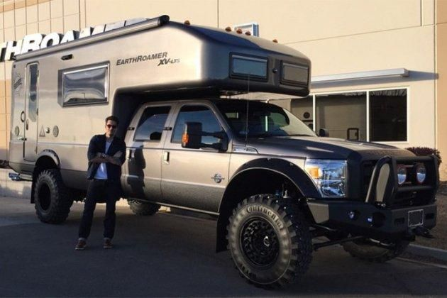 John Mayer and his new EarthRoamer truck camper