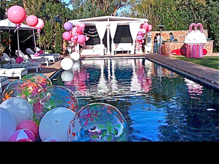 Pool Party Decorations Ideas pool party balloon decorations Pool Party