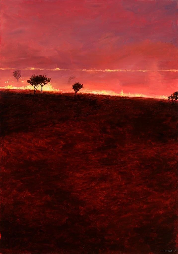 Luan Nel / Carmine Bee-eater / oil on canvas / 60 x 41 cm