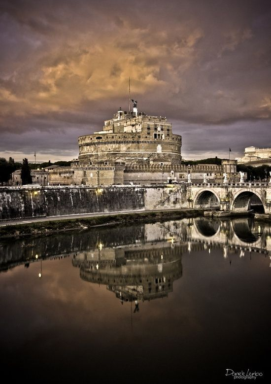 Castle Sant' Angelo, Rome, Italy.  Go to www.YourTravelVideos.com or just click on photo for home videos and much more on sites like this.