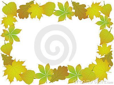 орнамент листьев осени