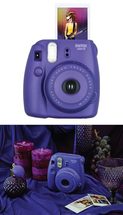 WANT!! Fujifilm Instax Mini 8 Instant Camera in purple. (Christmas gifts for teen girls)