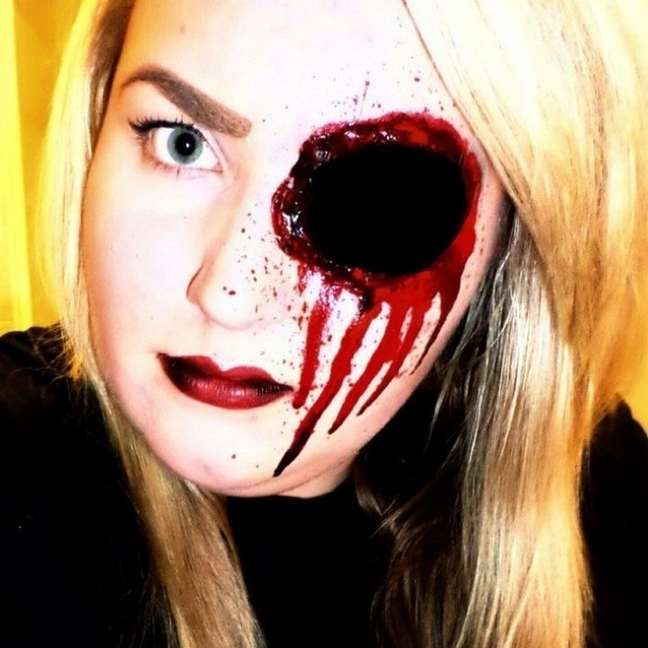 37 scary face halloween makeup ideas gaping hole in the head - Scary Faces For Halloween With Makeup