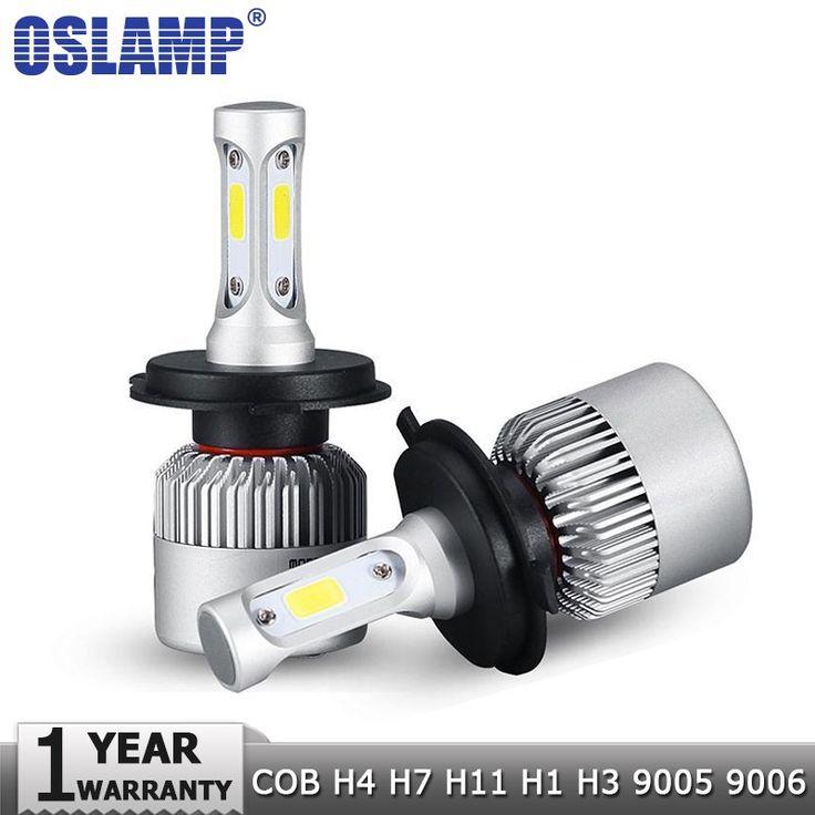 Big discount US $23.72  Oslamp H4 H7 H11 H1 H13 H3 9004 9005 9006 9007 9012 COB LED Car Headlight Bulb Hi-Lo Beam 72W 8000LM 6500K Auto Headlamp 12v 24v