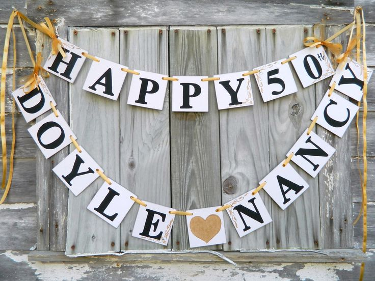 Happy Anniversary Banner -Silver Anniversary Party Decorations -Golden Anniversary Decoration- 25th or 40th or 50th You Pick the Colors by anyoccasionbanners on Etsy https://www.etsy.com/listing/236335099/happy-anniversary-banner-silver
