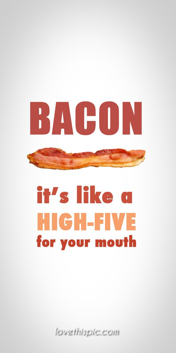 Bacon quotes mouth funny quotes wise quotes humor bacon pinterest pinterest quotes high five