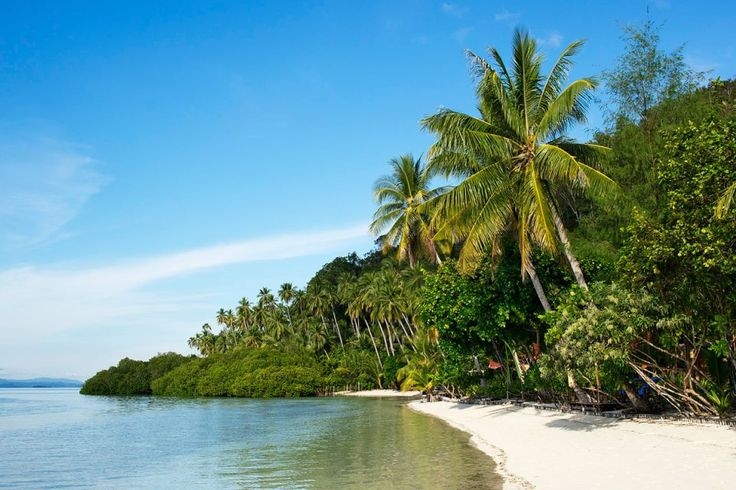Beach at Mansaur island, Raja Ampat, Indonesia