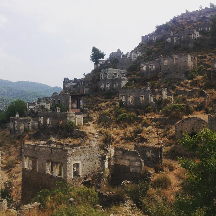 One of the TOP 10 Ghost Towns in the world - the village of #Kayakoy near #Fethiye