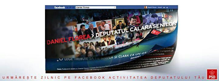 Social media: prezentarea activitatii deputatului PSD Daniel Florea