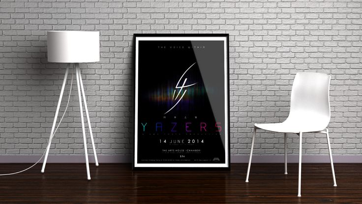 Mockup of Yazers' Evening Concert Ad Poster
