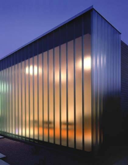 U Glass – a type of glass known for its structural strength, light diffusion and sound insulation properties.