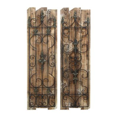 Woodland Imports 2 Piece Enchanting Gate Wall Décor Set