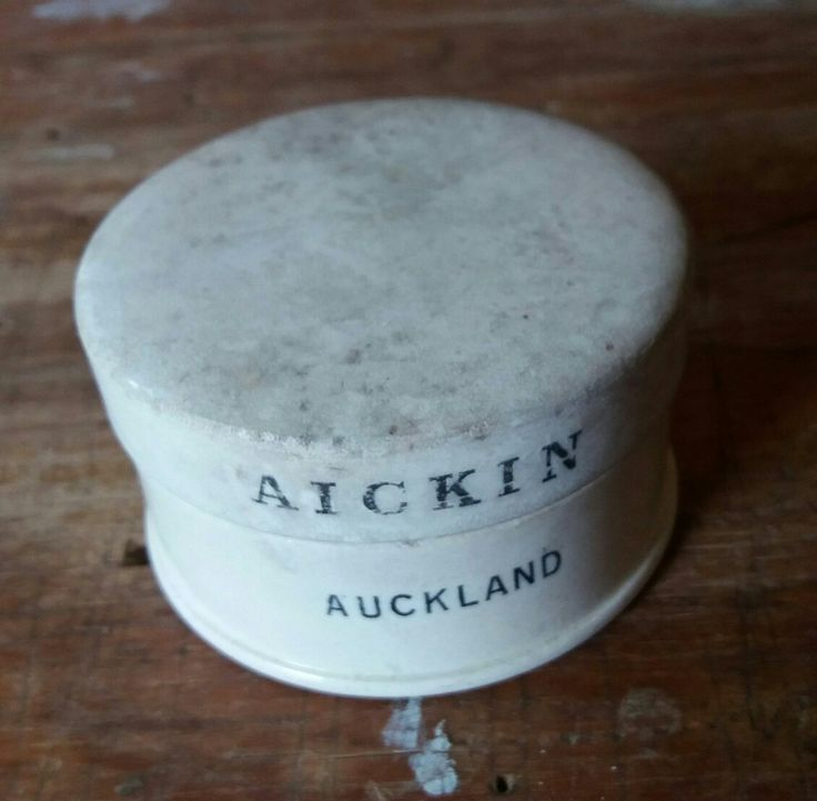Aickin Auckland. Ceramic potlid and base. 7cm diameter.