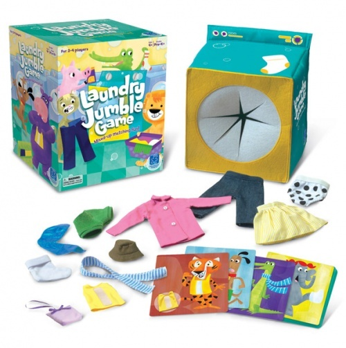 Laundry Jumble Game - Find the missing clothes--but no peeking allowed! Encourage tactile exploration, fine motor skills, vocabulary and counting with Educational Insight's Laundry Jumble game!