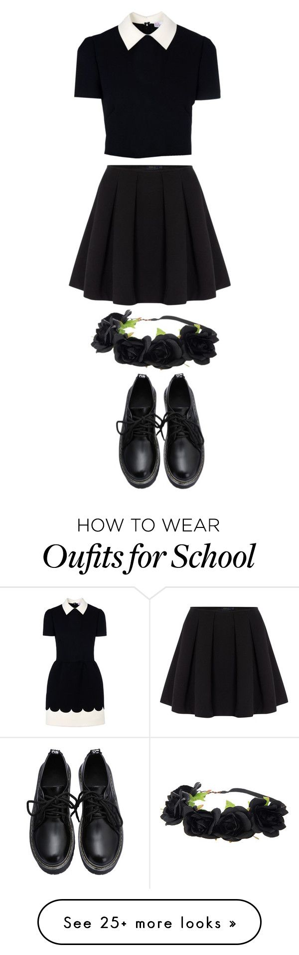 """All School"" by gracerose03 on Polyvore featuring RED Valentino, Polo Ralph Lauren, women's clothing, women, female, woman, misses and juniors"