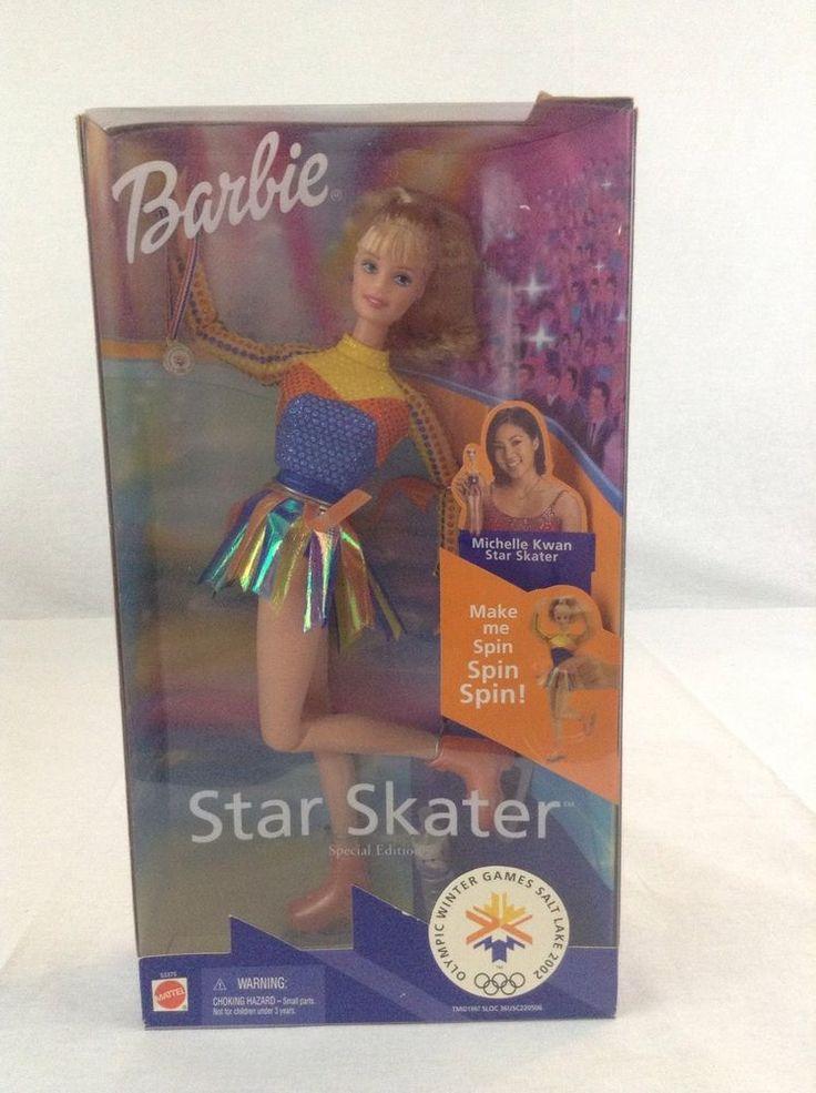 1997 NIB Mattel Barbie Olympic Winter Games Star Skater Doll Michelle Kwan #Mattel #DollswithClothingAccessories