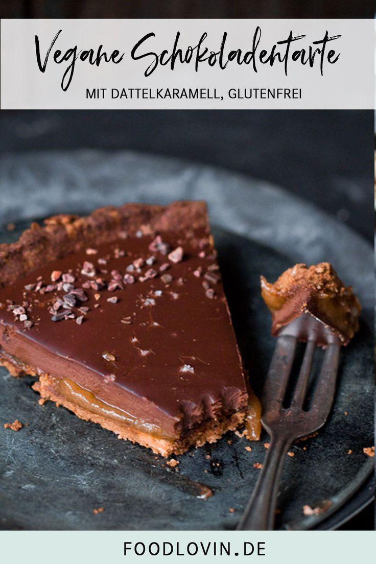 Vegane Schokoladentarte mit Dattel-Salzkaramell. – >>> Patisserie – Backen – Sweets <<<