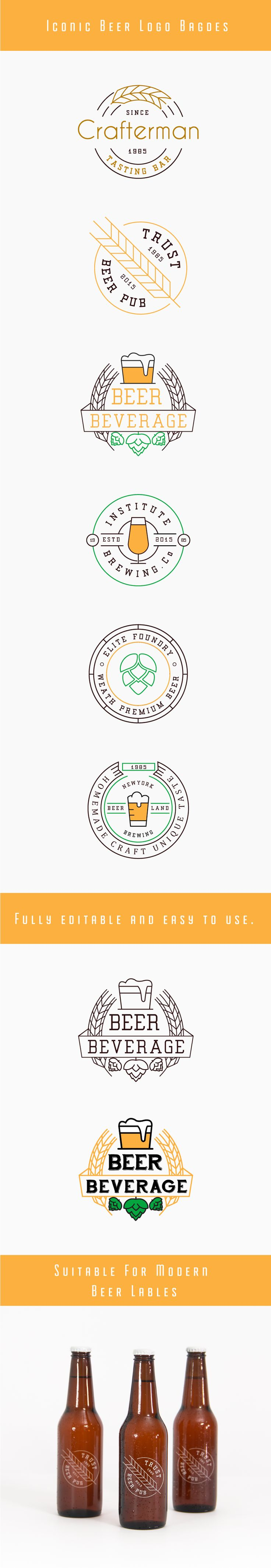 Fspallato: I like the simplicity of these badges. Beer Logo Badges on Behance