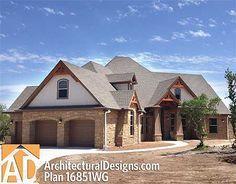 Plan W16851WG: Craftsman, Corner Lot, European, Photo Gallery, Luxury, Cottage, Mountain House Plans & Home Designs