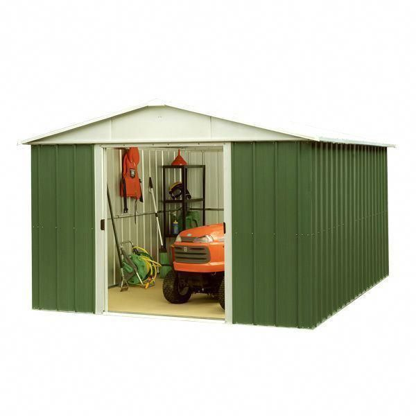 10 X 8 Yardmaster 108geyz Apex Metal Garden Shed On Walton Garden Buildings Buildashedkit Build Your Own Shed Plans In 2019 Metal Shed Shed Build A Shed Kit