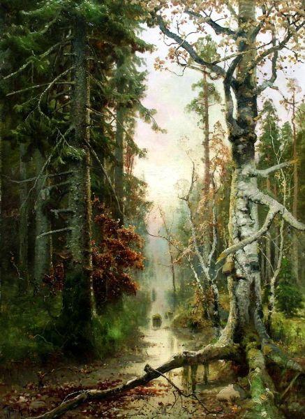 Klever Julius - Autumn in the woods. 200 Russian painters • download painting • Gallerix.ru