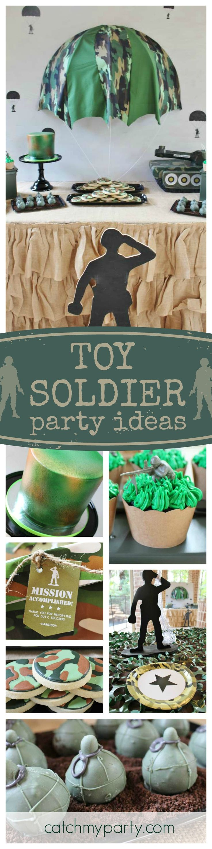 Check out this fantastic Toy Soldier birthday party!! The dessert table and treats are awesome!! See more party ideas and share yours at CatchMyParty.com