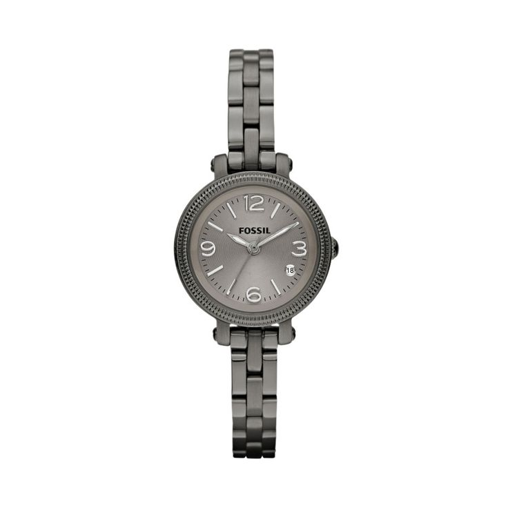FOSSIL® Watch Styles Steel Watches:Watch Styles Heather Mini Stainless Steel Watch – Smoke ES3137