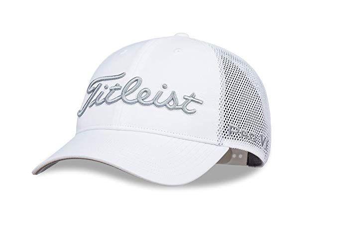 Amazon Com Titleist Men S Tour Performance Mesh Golf Hat White Grey Sports Outdoors Golf Hats Hats Golf Fashion