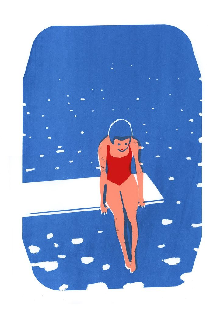 Piscine virginie morgand illustration pinterest for Piscine virginie dedieu
