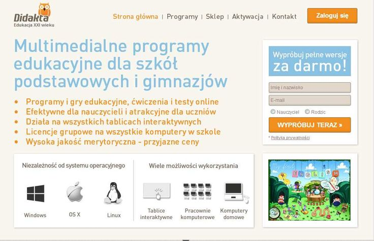 Programy i gry edukacyjne, ćwiczenia i testy online, tablica interaktywna