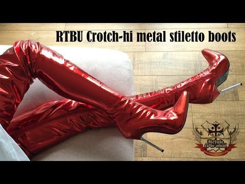 RTBU Refuse to be Usual Crotch Length Boots with 12cm Metal Stiletto Heels