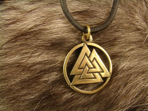 Valknut, Norse Pendant, Scandinavian Jewelry, Asatru, Valknut symbol, Viking jewelry   Valknut is a symbol consisting of three intertwined triangles. Each of the triangles by three vertices, and together 9. In the Northern tradition 9 worlds. We can assume that each vertex of the