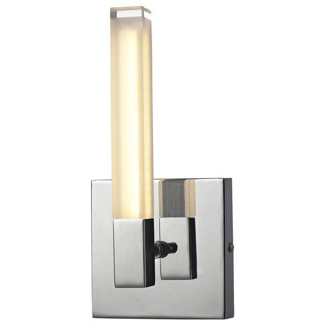 Applique Chromo Led - Métal chromé LUMINA : prix, avis & notation, livraison.  FICHE TECHNIQUE- Applique en métal et verre satiné acrylique.- Indice de protection IP44 : Protégé contre les projections d'eau dans toutes les directions.- Convient à une utilisation en salle de bain.- Interrupteur on/off intégré.CARACTERISTIQUES TECHNIQUES- Dimensions : L. 11 x H. 23,5 cm.- Type de culot : SMD.- Puissance maximale : 3,2 W.- Fonctionne avec 1 ampoule LED fournie.- Poids : 0,9 kg.
